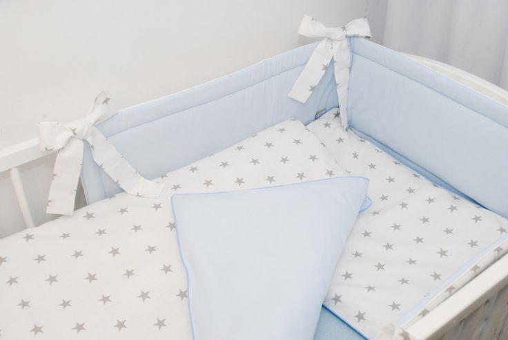 Pościel dziecięca Gwiazdki z błękitem - LoveWhite - Pościel do łóżeczka