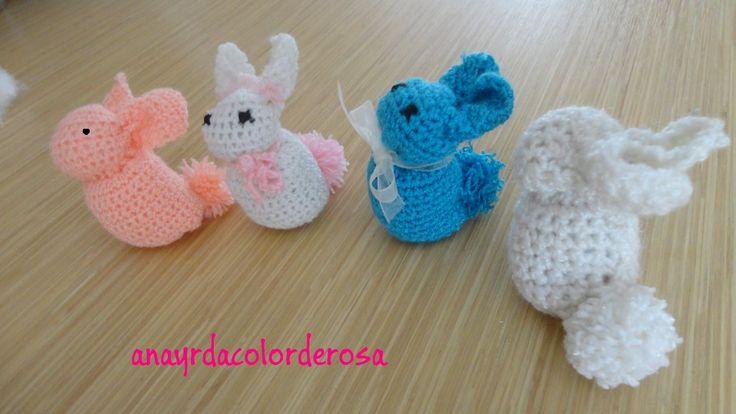 conejitos a crochet fácil y rapido