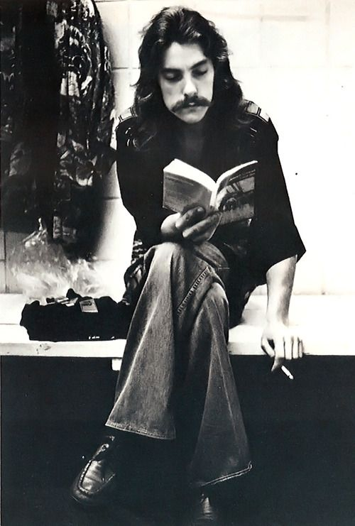 Neil Peart...always reading!                                     Rush