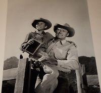 CHUCK CONNORS & JOHNNY CRAWFORD / THE RIFLEMAN / 8 X 10 B&W PHOTO