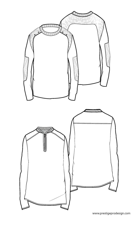 Sweater | Free-mens-fashion-flat-sketches | Pinterest ...