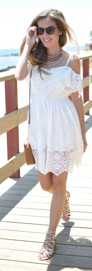 White Lace Dress by Te Cuento Mis Trucos.