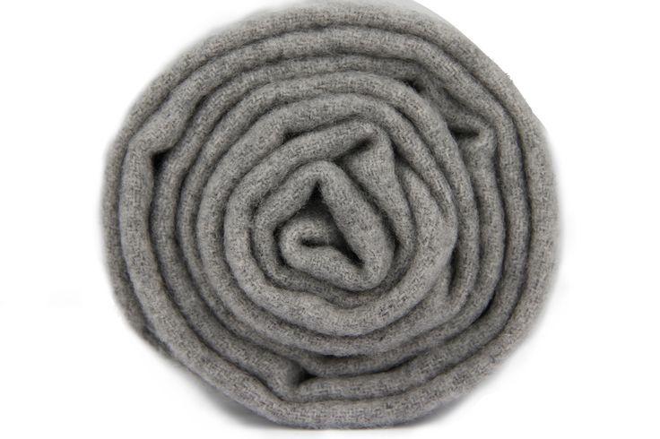 Écharpe grise chinée en laine