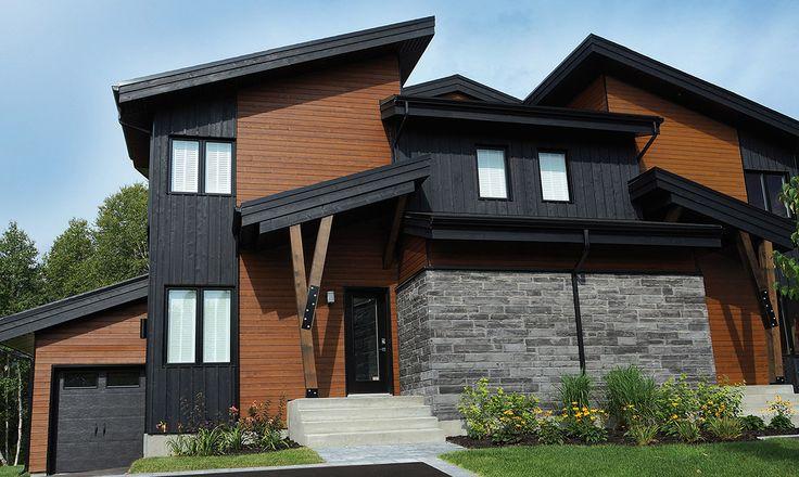 Maibec | Residential - Quebec area | Urban Modern style: white cedar siding in Muskoka Brown-53