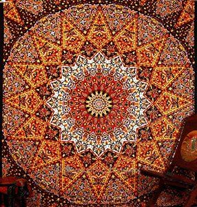 Amazon.com: Hallucinatory Star Mandla Hippie Tapestries Wall Hanging , Indian Mandala Tapestry Bedspread , Dorm Tapestry , Vintage Decorative Wall Hanging , Traditional Tapestries for Dorms By Bhagyoday: Kitchen & Dining