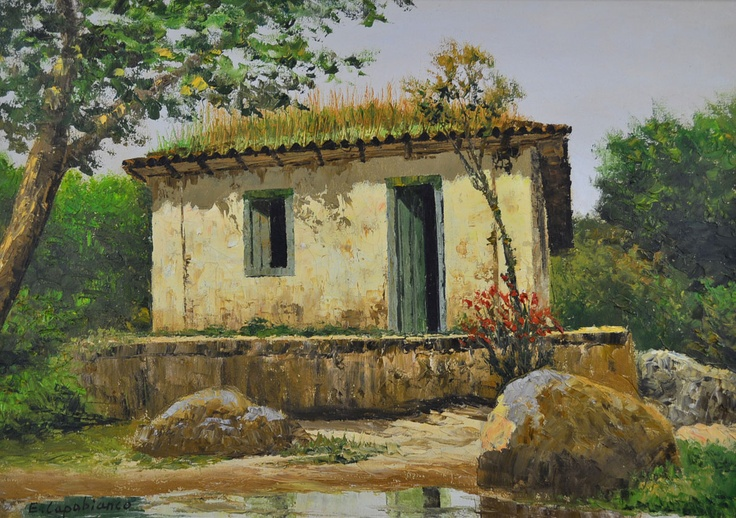 ERNESTO CAPOBIANCO - (1918)    Título: Paisagem  Técnica: óleo sobre tela  Medidas: 50 x 70 cm  Assinatura: canto inferior esquerdo