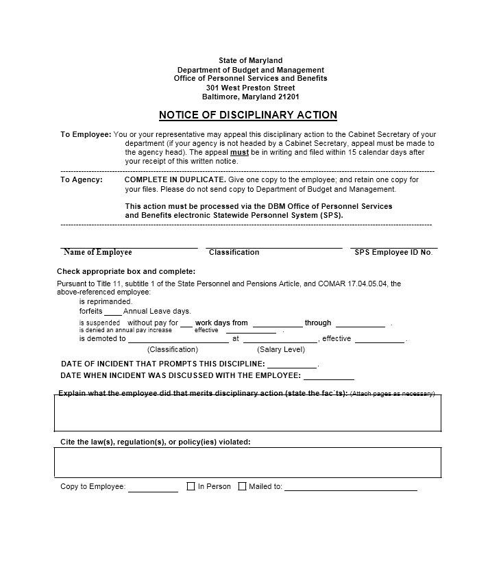 Download Disciplinary Action Form 23 Good Essay Narrative Essay Resume Template Free