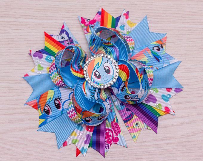 Rainbow Dash arco - mi pequeña fiesta de Pony - arcoiris cumpleaños Little Pony - pequeño Pony favores - mi pequeño Pony camisas - Rainbow Dash Vestido
