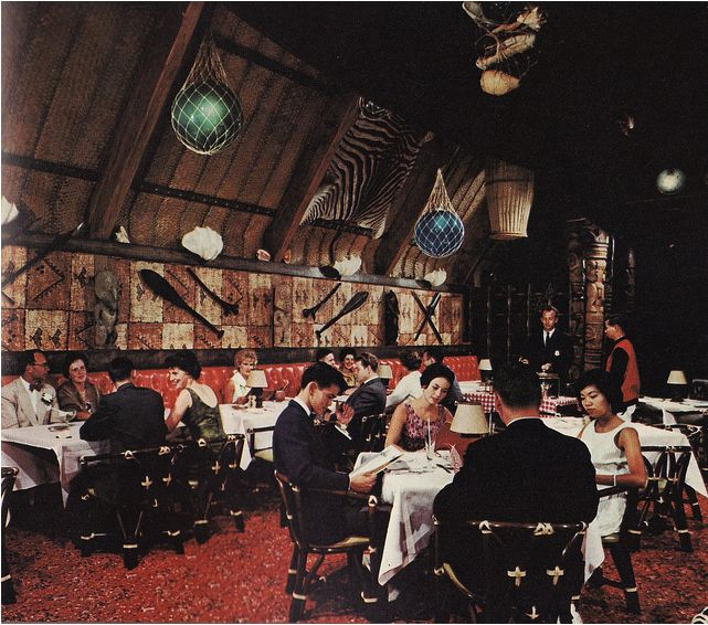 Trader Vic's in Vancouver, 1961.