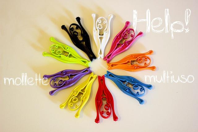 Help! by Biqquadro - design multipurpose clips by Sara Gambarelli, via Flickr