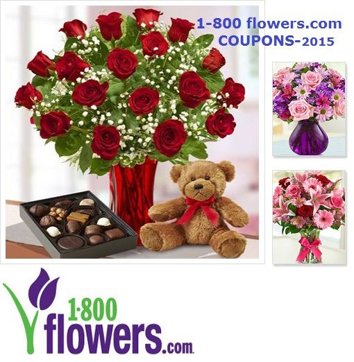Get your sweetie's Valentine's Day flowers order now,to make sure you stay out of the dog house!! 1-800 flowers Coupons 2015 Here is one popular 1-800 flowers coupon,but be sure to click on the link below for more coupons!! 1. 1-800 flowers coupons -Select Flowers and Gifts 7% – 45% Off Get select flowers and gifts at a discount up to 45% off. http://domesticdivascoupons.com/1-800-flowers-coupons-2015/
