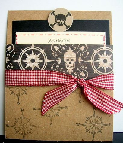 Items similar to Pirate Birthday Party Invitation on Etsy