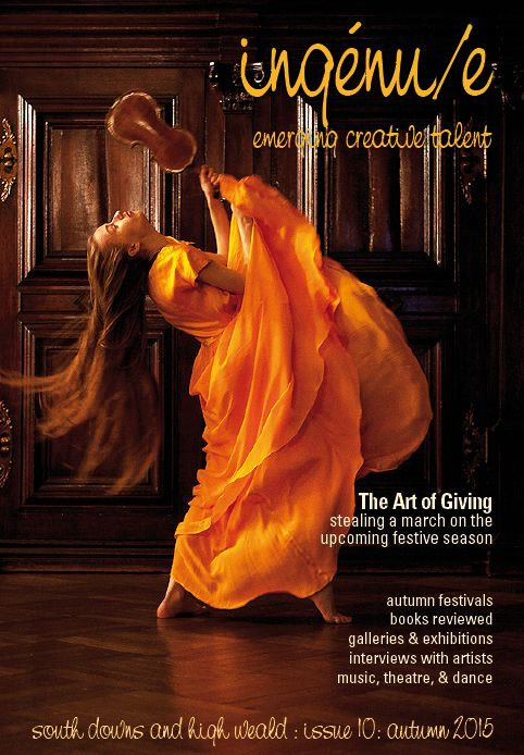 Front cover of issue 10 of ingenue magazine; pictured: Kristine Balanas, photo by Aiga Ozolina. www.aigaozo.com