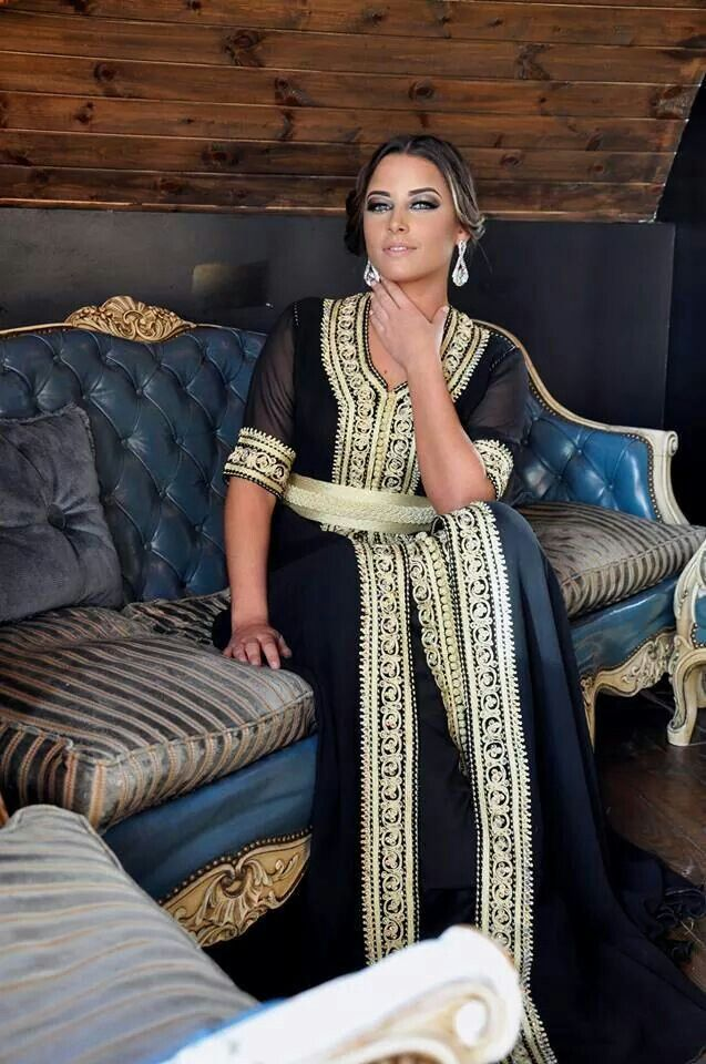 Black Moroccan Caftan Dress (5)