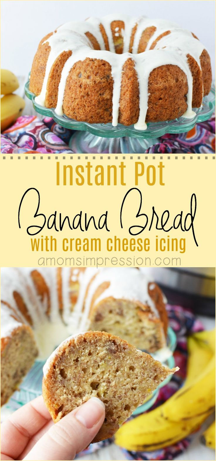 Did you know that your pressure cooker can make a super moist banana  bread? Check out this easy Instant Pot Banana Bread recipe, it is the  best dessert I have made in awhile! #Instantpot #bananabread #dessert