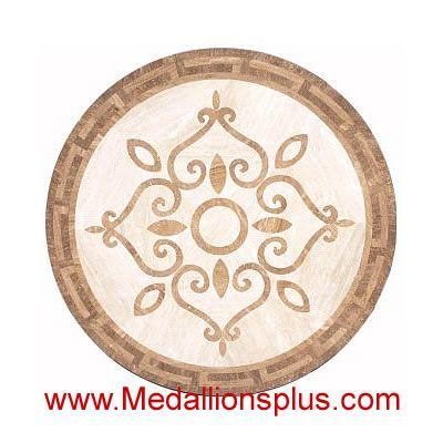 """Victornia Beige, 36"""" Waterjet Medallion - MedallionsPlus.com - Floor Medallions on Sale. Tile, Mosaic, & Stone Inlays."""