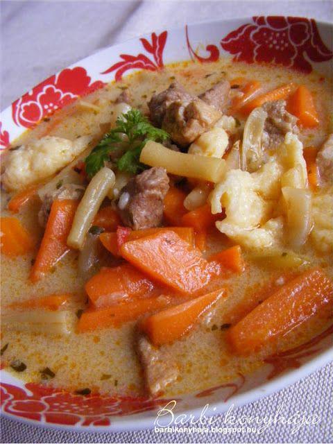 Barbi konyhája: Zöldbabos raguleves vagy palócleves