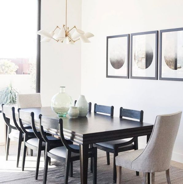 Chic And Contemporary Dining Room Design Featuring Bungalow 5 Alexa Chairs
