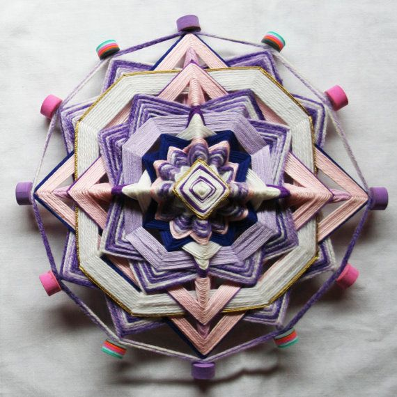 Purple Mandala God's Eye by PsyMagic on Etsy, €35.00