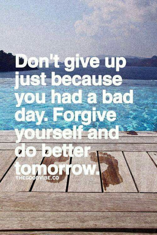 Forgive yourself.