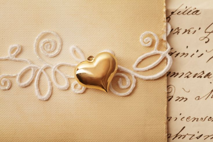 Classic Wedding Designer Card With Golden Heart Are Never Getting Out Of Trend