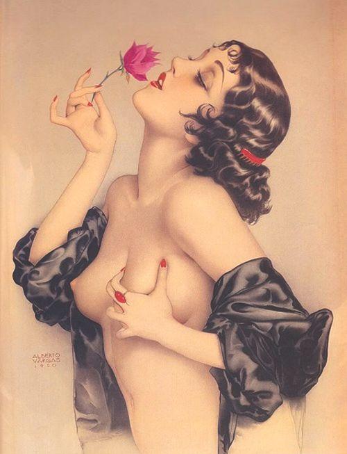 Альберто Варгас. Портрет Олив Томас (1920)— первый пин-ап вистории