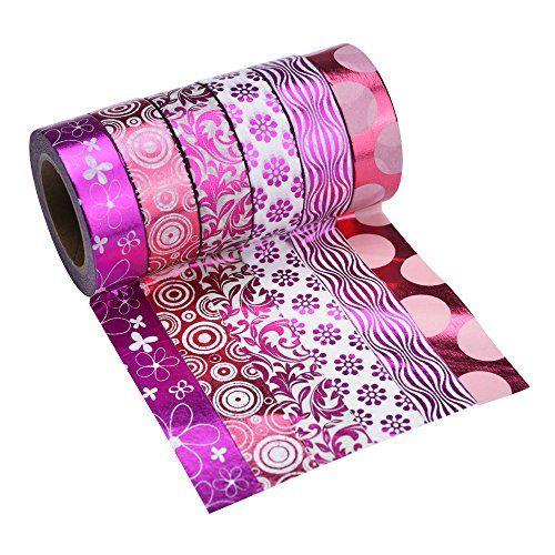 Mudder Washi Masking Tape Set, Adhesive Paper Tape for Crafts, Set of 6 (Hot Pink) Mudder http://www.amazon.com/dp/B017OUE0AE/ref=cm_sw_r_pi_dp_brivwb1D8JD7D