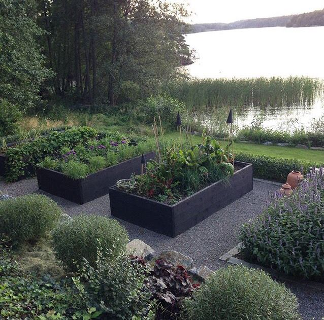Trädgård planteringslåda