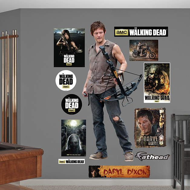 Fathead Walking Dead Daryl Dixon Wall Graphic   Wall Sticker, Mural, U0026 Decal  Designs At Wall Sticker Outlet Part 20