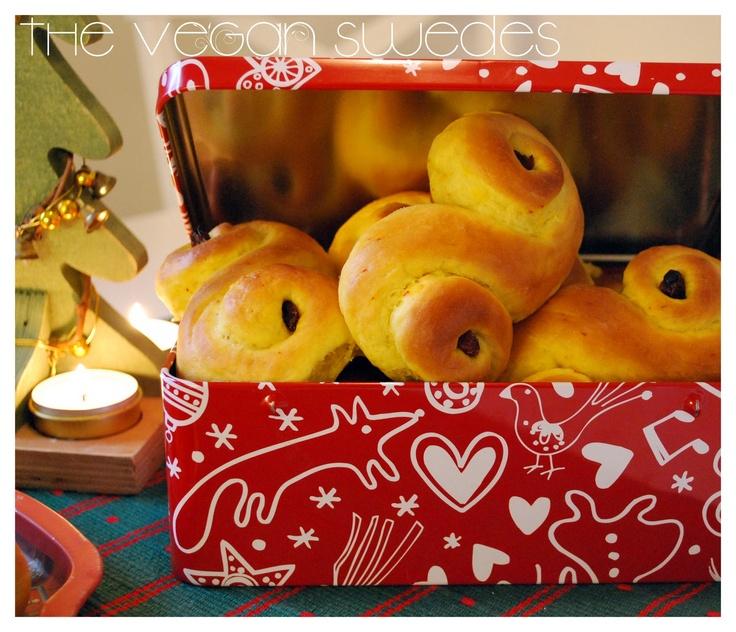 Vegan Saffron Buns / Lussekatter for St. Lucia