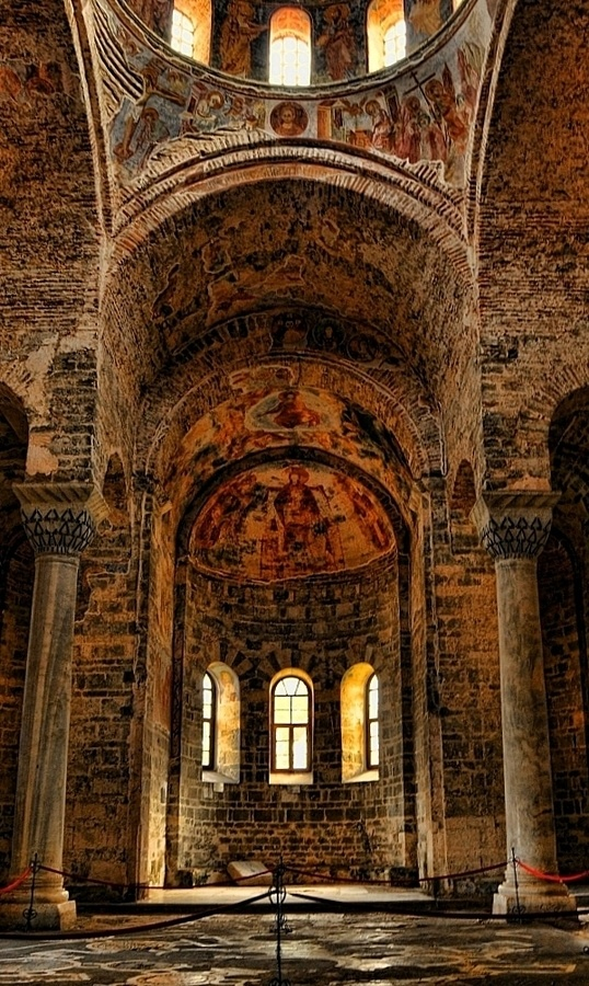 Hagia Sophia-Trabzon - Pontian Greeks built this glorious church - it's recently been converted to a mosque and the frescos have been covered up