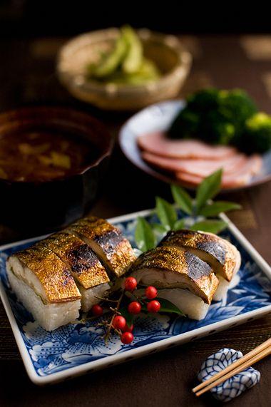 Japanese mackerel pressed sushi