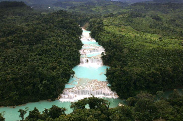 #AguaAzul #Chiapas #Mexico #verde #vistimexico #turismo