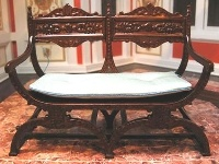 Dolls House Carved Back Settee from The Wonham Collection. R0159.
