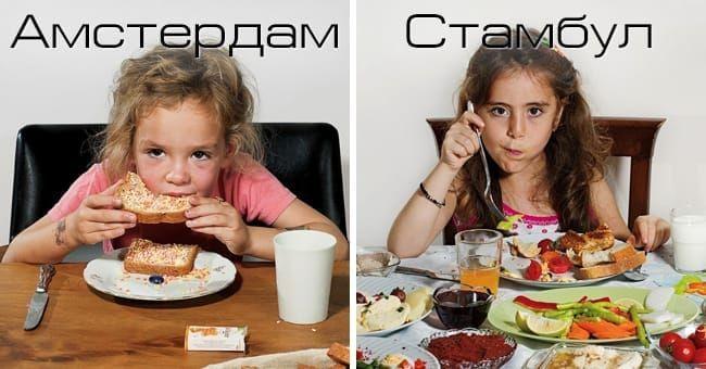 Как выглядит детский завтрак в разных уголках планеты
