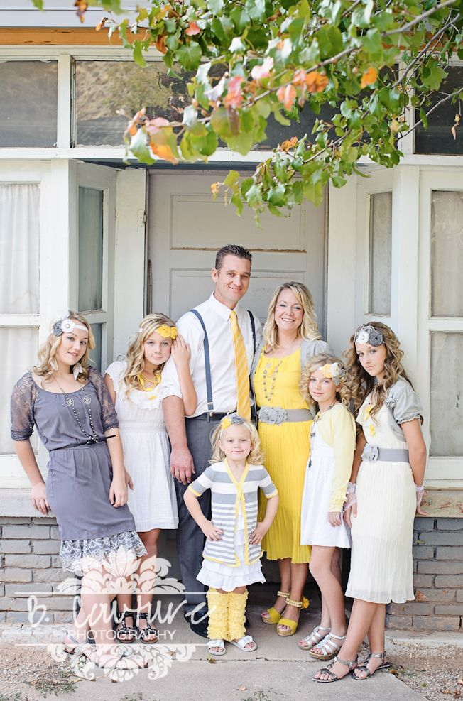 Family picture clothes by color series yellow