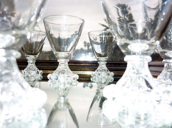 Anchor Hocking Glassware Sherry Glasses by BonAppetitAntique