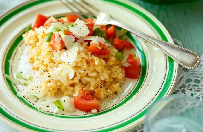Fried rice med ägg  och räkor