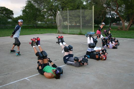 On and off skate workouts make for a stronger more badass roller derby player!!