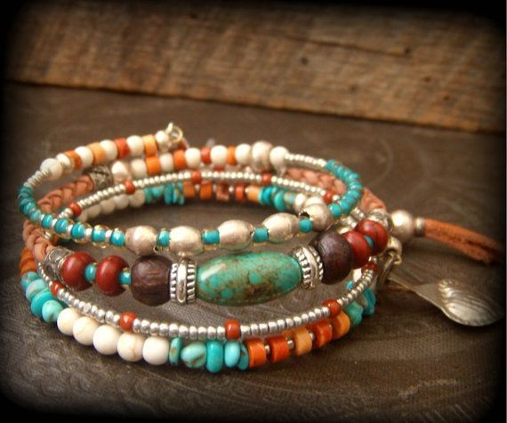Another wrap bracelet set but this one is showy with a South West Country Girl style and a Pony charm! YuccaBloom, $59.00