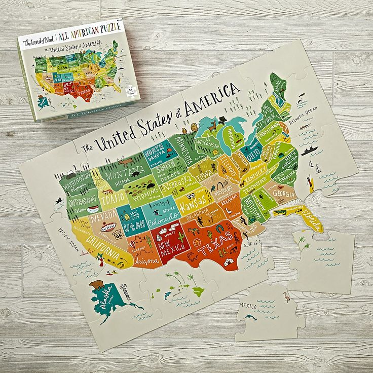 Games_Puzzle_Giant_USA_Map_V1 Floor puzzle, Puzzles for