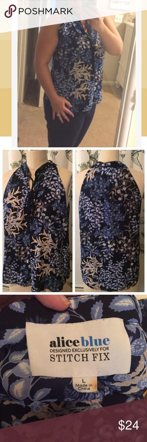 736c04fda83 Alice Blue for Stitch Fix Melisandre Tie Neck Top