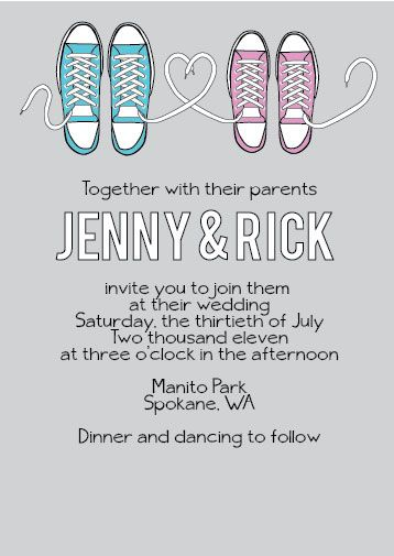 FREE wedding invitation printable download - Converse Invitation Suite. You can find it here: http://www.loveandlavender.com/downloads/converse-invitation-suite/