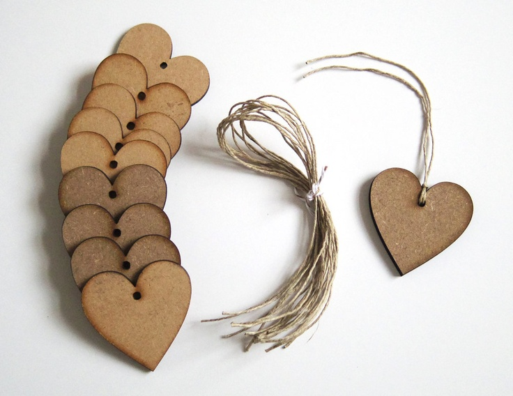 Wooden Hearts - Wedding Favours, Place Cards, Decorations.