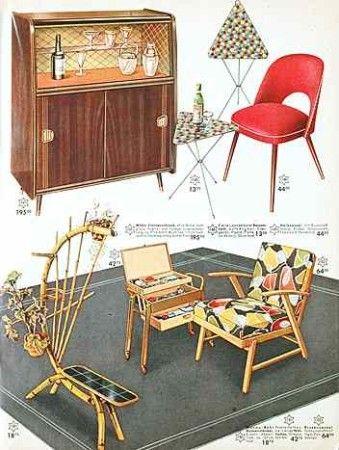 Möbeldesign 50er / Cocktail Sessel 1958