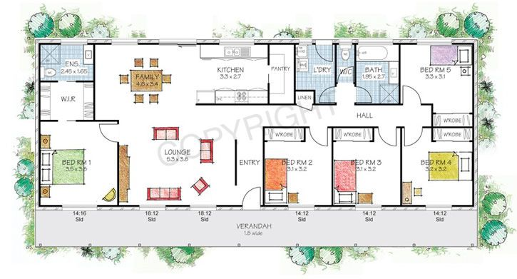 The Berrima floor plan Paal Kit Homes offer easy to