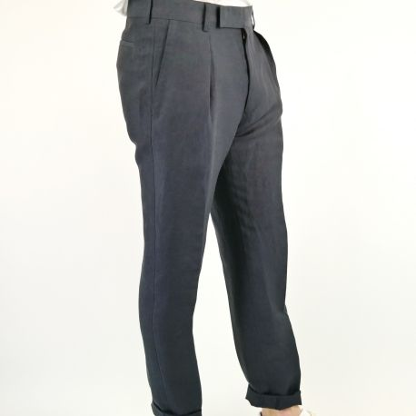 PAUL SMITH PANTALON LIN VISCOSE REVERS   Référence PS1-420W550138-E17|001|30 / réf : PSXC/420R/W55 dispo by www.algorithmelaloggia.com