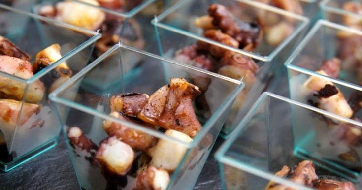 La Piccola Casa: La ricetta finger food: bicchierini di polpo alla piastra con paprika affumicata e aceto balsamico