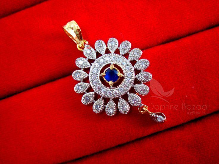 Daphne Zircon Blue Flower Cute Pendant Earrings for Anniversary Gift - PENDANT