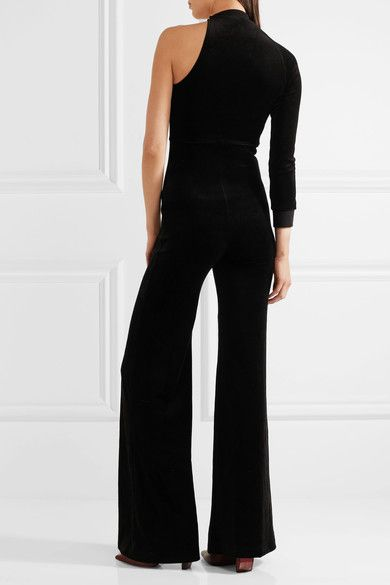 Vetements - Juicy Couture One-shoulder Cotton-blend Velour Jumpsuit - Black - x small
